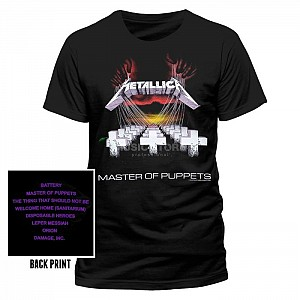 Metallica - Master Of Puppets Tracks (tricou)