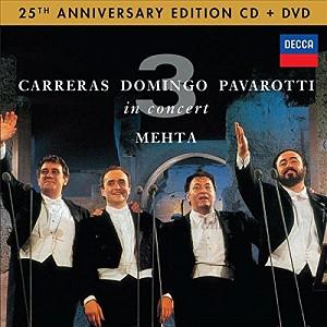 Carreras/Domingo/Pavarotti - 3 Tenors In Concert-Roma 1990 [25th Anniv. Ed.] (cd+dvd)