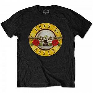 GUNS N' ROSES - Classic Logo, tricou, negru, M