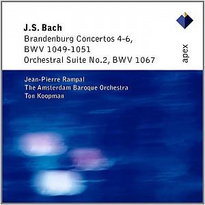 BACH J. SEBASTIAN - Brandenburg Concertos No 4-6, Orch Suite 2 [Koopman] (cd)