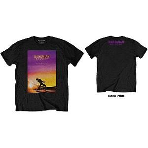 QUEEN - Bohemian Rhapsody Movie Poster [black] (tricou)