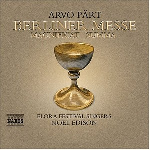 ARVO PART - BERLINER MESSE - MAGNIFICAT SUMMA (Slipcase) [cd]