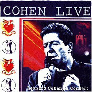 LEONARD COHEN - COHEN  LIVE IN CONCERT (CD)