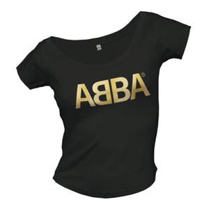 ABBA - Logo Gold Skinny (tricou fete)