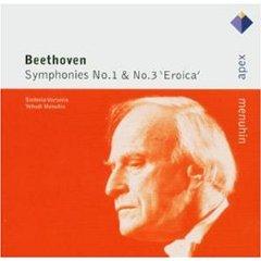 BEETHOVEN - SYMPHONIES NO.1&NO.3 'EROICA' (MENUHIN) - CD